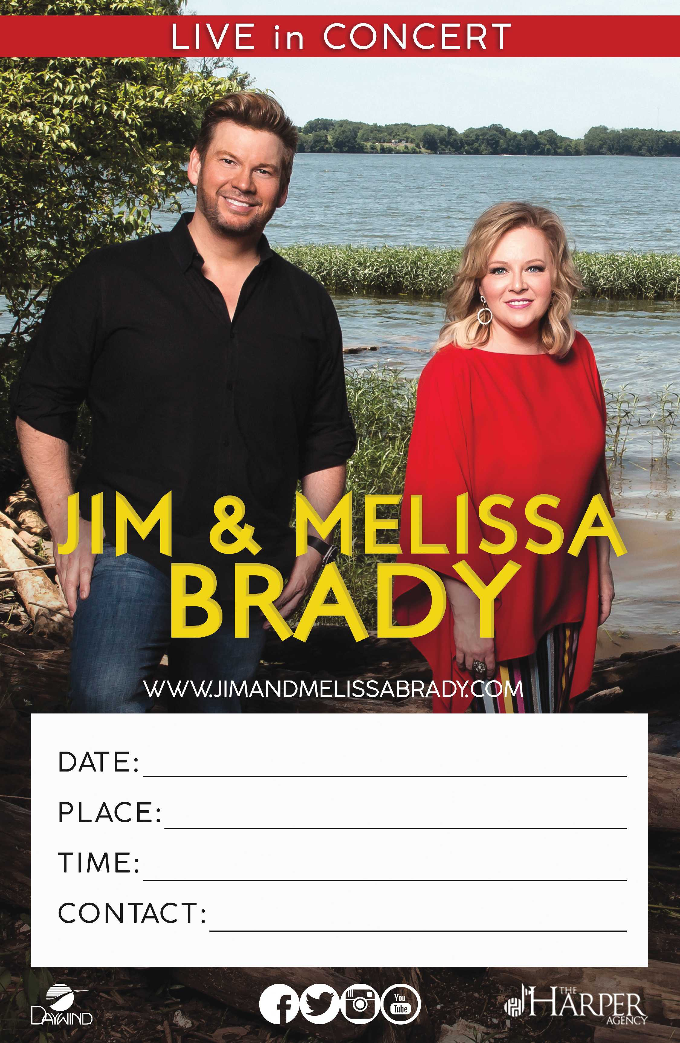 Jim and Melissa Brady | 11 x 17 Concert Poster