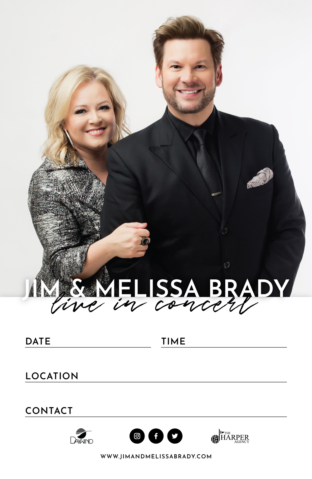 Jim and Melissa Brady | 11x17 Concert Poster